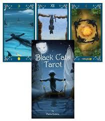 cats on deck black cats tarot deck kurara the magickal cat