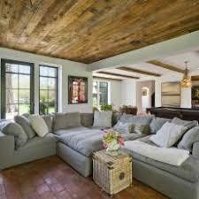 Mediterranean Living Room With Terra Cotta Floor