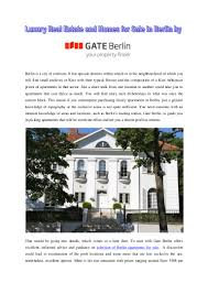 100 Apartments For Sale Berlin Luxury Real Estate And Homes For Sale In Berlin By Gate Berlin