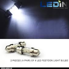de3175 4 led festoon bulb map light de3022 3021 1 25 31mm white