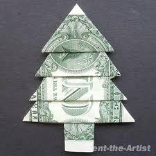 money origami christmas tree craft sewing pinterest money