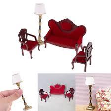 1 12 puppenhaus miniatur möbel wohnzimmer sofa stuhl le set