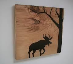 Moose Silhouette In Forest On Reclaimed 1900's Barn Wood. $20.00 ... 25 Unique Barn Wood Crafts Ideas On Pinterest Best Board Decor Projects Rustic Hall Trees Farmhouse Wood Mirror Matthew Colleens Blog Old Fence Boards Made Into A Head I Love It So Going To 346 Best Sheet Metal Images Balcony 402 Unique Framing Ideas Picture Frame Trim My House Stardust Designs Wall How To Create Weathered Barnwood Look With This Inexpensive Old Barn