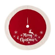 D Fabric Christmas Tree Skirt In Merry 1113202455