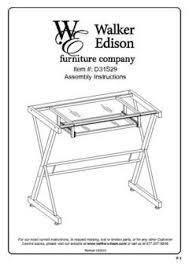 Walker Edison 3 Piece Contemporary Desk Instructions by Walker Edison Solo Glass Computer Desk Walmart Com