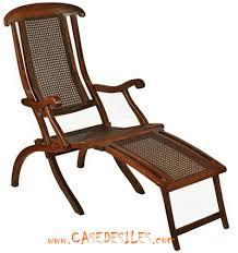 chaise coloniale chaise longue de pont croisière française cf250