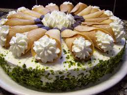 käse sahne torte mit pistazien cahama