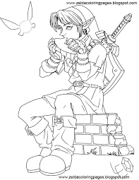Great Zelda Coloring Pages 97 On For Kids With