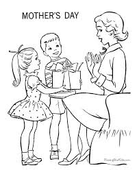 Printable Mothers Day Coloring Pages Gift For Mom Sheets And Pictures