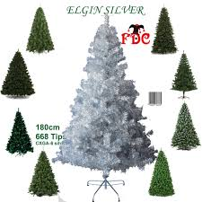7ft Fibre Optic Christmas Tree Ebay by Luxury Artificial Silver Tinsel Christmas Xmas Tree 1 8m 6ft And
