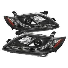 spyder auto toyota camry 07 09 projector headlights drl