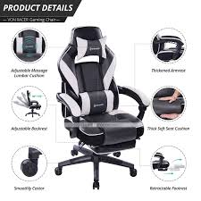 VON RACER Massage Reclining Gaming Chair - Ergonomic High ... Dke Fair Mid Back Office Chair Manufacturer From Huzhou Fulham Hour High Back Ergonomic Mesh Office Chair Computor Chairs Facingwalls Adequate Interior Design Sprgerlink Proceed Mid Upholstered Fabric Black Modway Gaming Racing Pu Leather Unlimited Free Shipping Usd Ground Free Hcom Highback Executive Heated Vibrating Massage Modern Elegant Stacking Colorful Ingenious Homall Swivel Style Brown