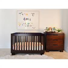 babyletto modo 3 in 1 convertible wood crib set in espresso
