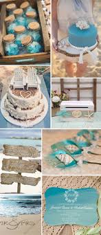Beach Theme Inspired Bracket Ombre Blue Watercolor Rustic Summer Wedding Invitations