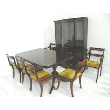 Regency Style Mahogany Dining Room Ca. 1940's