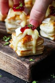 puff pastry canape ideas cranberry brie bites easy food brie bites and brie