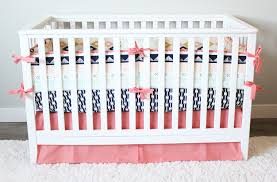 arizona baby bedding coral and navy bedding set crib