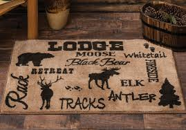 Wonderful Cabin Life Lodge Kitchenbath Rug Intended For Area Rugs Attractive
