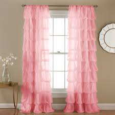 Lush Decor Serena Window Curtain by Pink Heart Patterned Dreamy Acoustical Unique Window Curtains