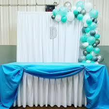 Balloon Garland Balloons Main Table Boy Baby Shower