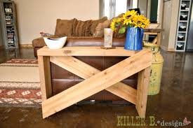 ana white 5 board cross brace console or side table diy projects