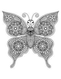 Beautiful Butterfly Art Therapy Adult Coloring PagesColoring SheetsColoring