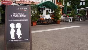 rü in diesem restaurant sind kinder abends unerwünscht