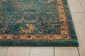nourison 2020 nr204 teal area rug carpetmart with rugs decor