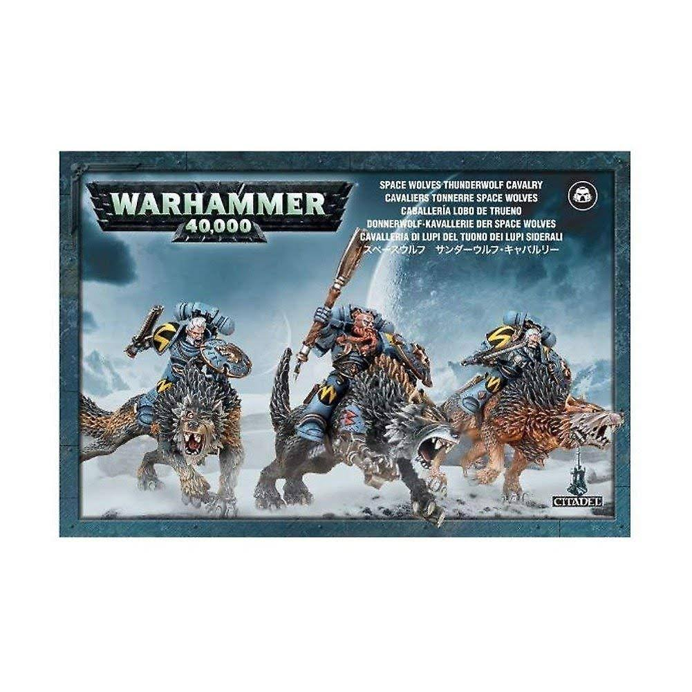Warhammer 40k Space Wolves Thunderwolf Cavalry Miniature Set