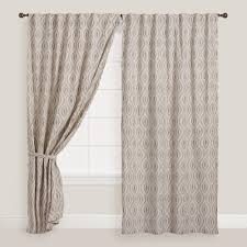 Geometric Pattern Sheer Curtains by Gray Geo Laura Concealed Tab Top Curtains Set Of 2 Global Style