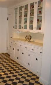 Photo Of Authentic 1920s Kitchen Except I Just Want The Glass Doors And White Cabinets