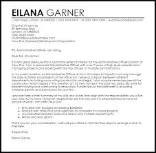 Cover Letter For Administrative Officer Position Sample Livecareer Templates