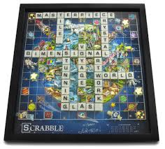 Super Scrabble Tile Distribution by This Charles Fazzino 3d Scrabble Set Is Not Your Grandma U0027s Board Game