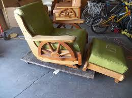 100 Cowboy In Rocking Chair 1950s S Era Western Wagon Wheel Large Size Platform Rocker