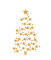 Stars Christmas Tree Embroidery Design