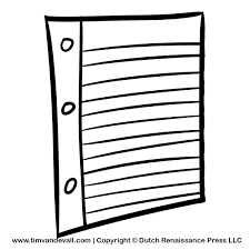 Notebook Paper Clip Art throughout Notebook Paper Clipart Black And White
