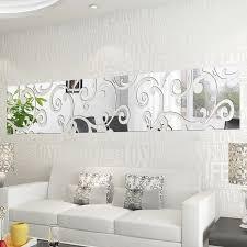 3d diy spiegel wand aufkleber spiegel dekorative shiny acryl aufkleber wohnkultur wohnzimmer dekoration diy moderne abstrakte kunst