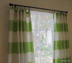 Green Striped Curtain Panels by 6 Horizontal Stripe Curtain Panels In Kiwi And By Lafortunelinens