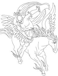 Pegasus Coloring Pages Printable