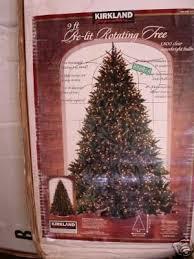 9 Ft Prelit Christmas Tree Kirkland Rotating Base