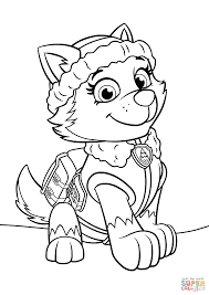 Click The Paw Patrol Everest Coloring Pages To View Printable