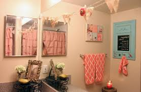 Coral Bathroom by My Girly Bathroom Makeover Inzainity