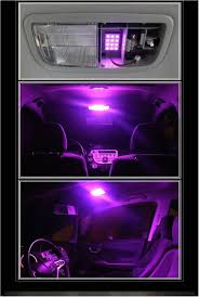 100 Led Interior Lights For Trucks Purple For Cars Pink Purple 12 Smd Panels