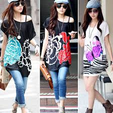 Korea Girl Women Fashion Tunic Mini Dress Boho Shirt Casual Tops Blouse Summer SV000433