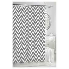 Grey And White Chevron Curtains by Radiant Chevron Bronze White Shower Curtain