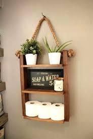 hängendes badezimmer regal rustikales regal badezimmer