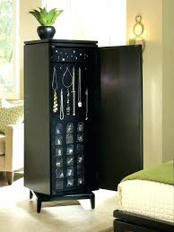 Furniture Jewelry Armoire Brown Maple Transitional Jewelry Powell
