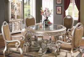 Victorian Dining Room Furniture Set With Fabulous Decor And Elegant Flower Arrangements