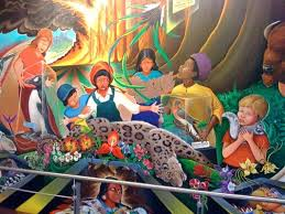 Denver International Airport Murals Painted Over by Mural At The Denver Airport Conspiracy