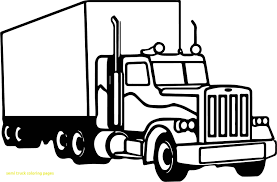 Truck Coloring Pages New Popular Semi Truck Coloring Pages With ...